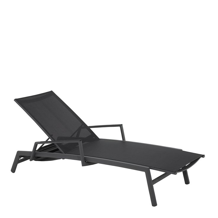 Azore Stacking Lounger (Slate / Charcoal)