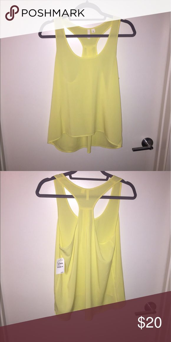 Frenchi yellow tank top Frenchi yellow tank top Frenchi Tops Tank Tops