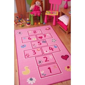 Hopscotch Children's Mat is a perfect present for little girls who love to hop and skip. http://www.therughouse.co.uk/childrens-rugs/girls-bright-pink-playtime-fun-kids-hopscotch-rugs.html