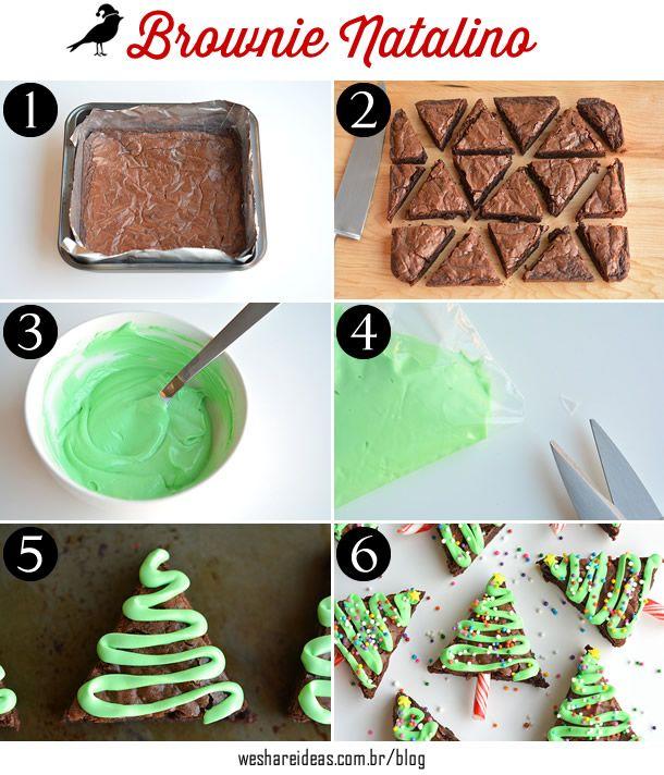 Veja como preparar esse brownie super fofo para servir como sobremesa na sua ceia!