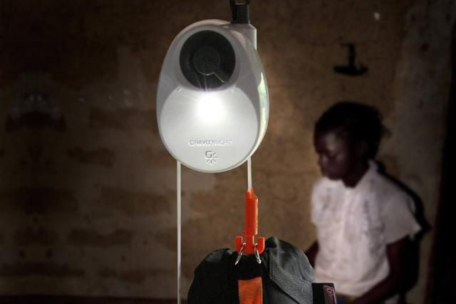 Gravity-powered lamp for people with no electricity. A device that uses gravity to generate energy off the grid could benefit people around the world with no access to electricity after its developer received £150,000 to scale up.