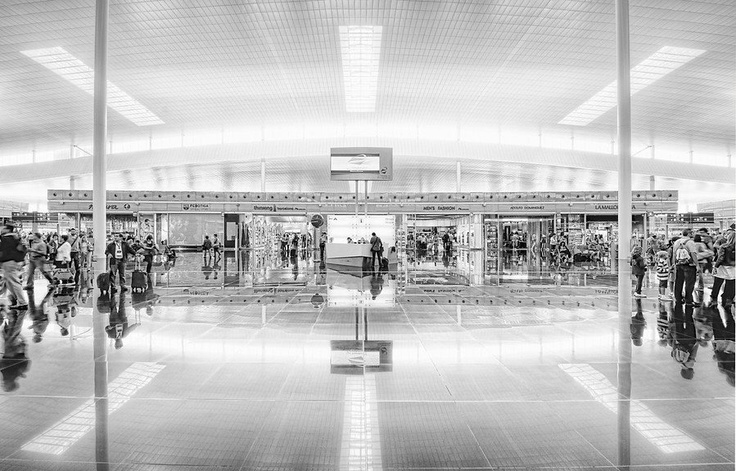 The #airport in #Barcelona. #blackandwhite. from #treyratcliff at http://www.StuckInCustoms.com - all images Creative Commons Noncommercial: Trey Ratcliff, Treyratcliff, Photographs, Travel Photos, Airport Ii, Airports Early, Photography