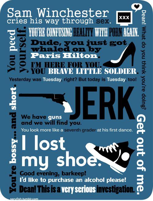 Sam quotes: Geek, Sam Quotes, Winchester Quotes, Stuff, Supernatural Sam, Supernatural 3, Sam Winchester, Fandom