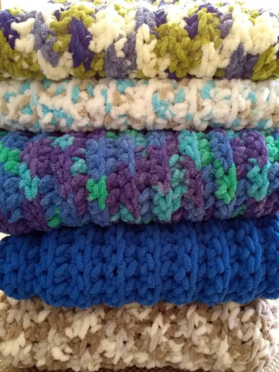 Clearance Crocheted Chenille Baby Blankets Sale 36 X 36 Inches