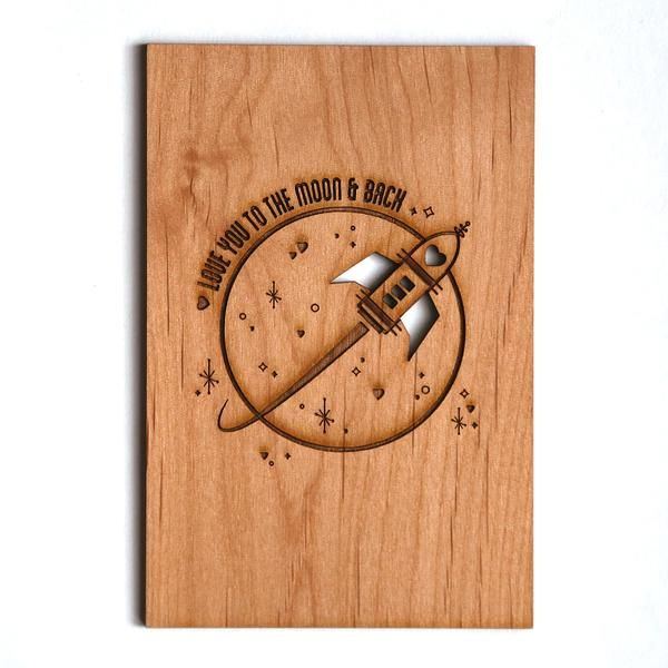 Beautiful Wooden Laser Cut Card A Special To Celebrate That