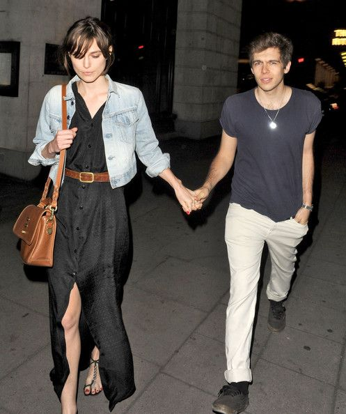 James Righton British Actress Keira Knightley spotted with her Fiance James Righton leaving the Wolsley Restaurant in London, England, UK on May 30th, 2012.
