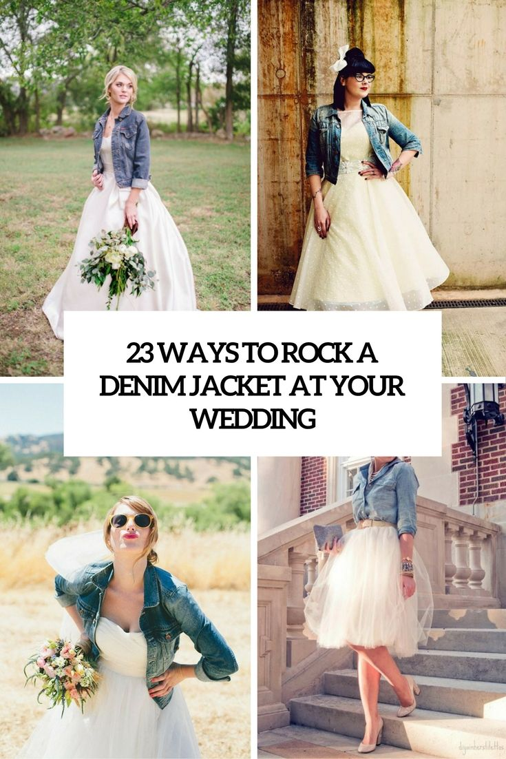 ways to rock a denim jacket at your wedding cover