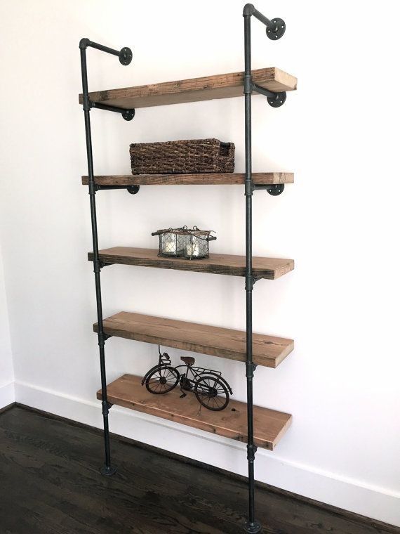 The Bentley Bookshelf Reclaimed Wood Industrial by arcandtimber                                                                                                                                                                                 More