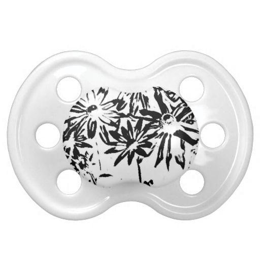 Transparent flowers pacifier