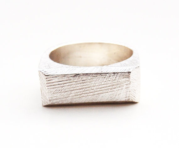 silver mens signet ring
