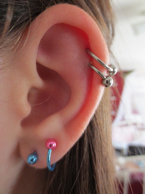 double cartilage piercing | Cute Cartilage Earrings ...