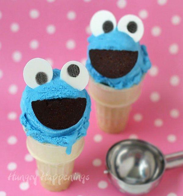 Cookie Monster Zuckerwatte-Eistüten   – Fall Fair Art Ideas for the Kids to Enter