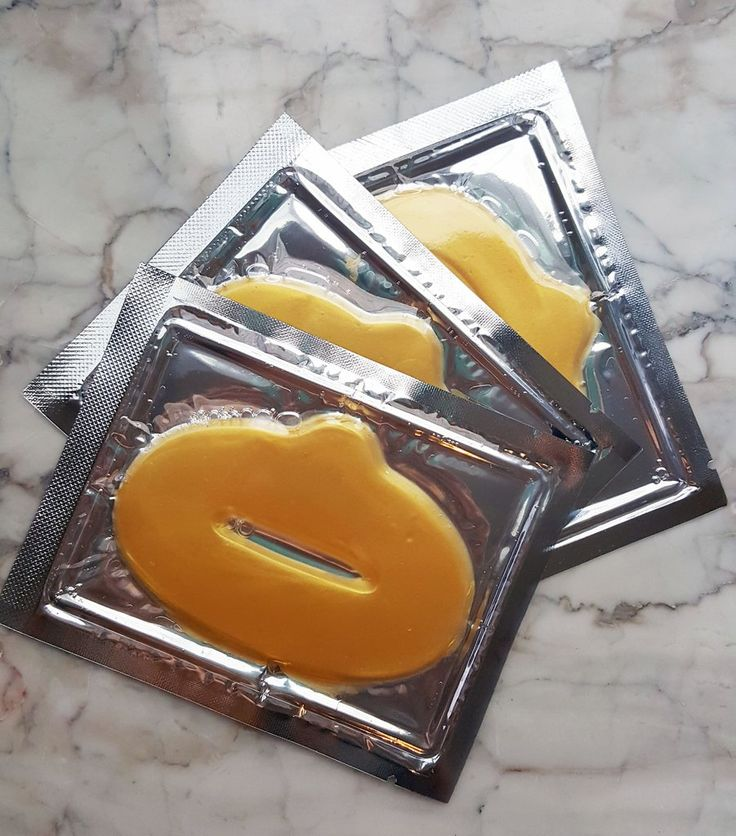 5 Pack Gold Luxury Collagen Anti Aging Lip Mask