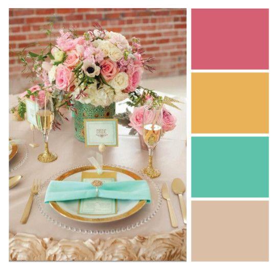Turquesa é uma das cores mais populares em paletas de cores para casamentos, que tal misturar com cores não convencionais?