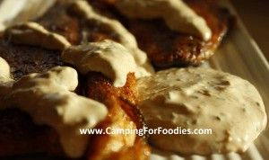 Blackened Trout with Cajun Cream Sauce camp recipes - Camping for Foodies