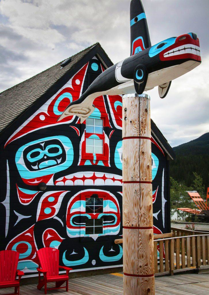 Carcross village centre in the Carcross Tagish First Nation, Yukon, Canada