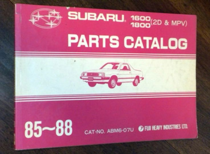 Subaru MV parts catalogue | by Sholing Uteman