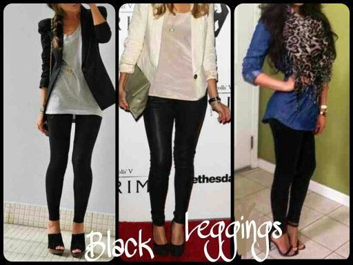14 best images about black leggings outfits on Pinterest | Hand bags Chambray and Grey scarf