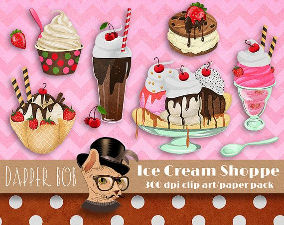 17 Best images about Ice Cream Parlor Clipart on Pinterest ...
