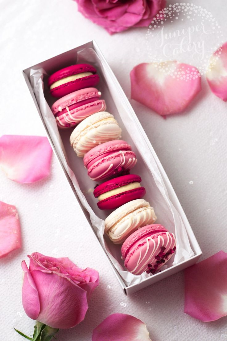 Valentine's Day macarons by Juniper Cakery