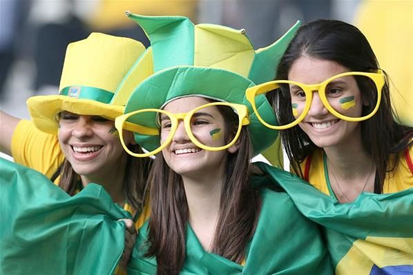Green and Yellow. If you've ever been to a Brazil football match you know these colors dominate the carnival like atmosphere inside the stadium.