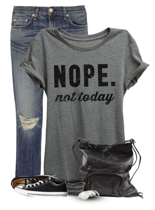 I have this Tee and LOVE it by cindycook10 on Polyvore featuring polyvore, fashion, style, rag & bone, Converse, VILA, Urban Boundaries, clothing, simpleoutfit