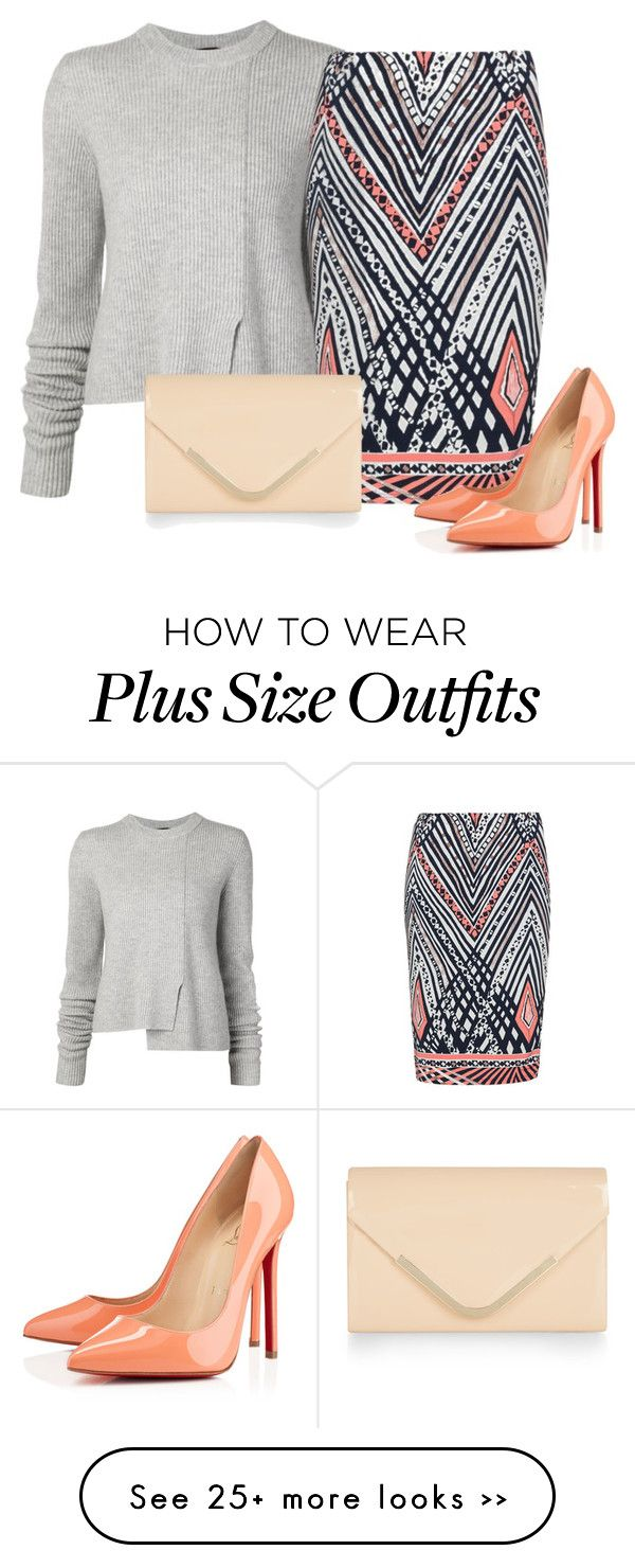 """""""Bez naslova #3413"""" by ramayanna on Polyvore featuring Proenza Schouler, Anna Scholz, Christian Louboutin and Accessorize"""