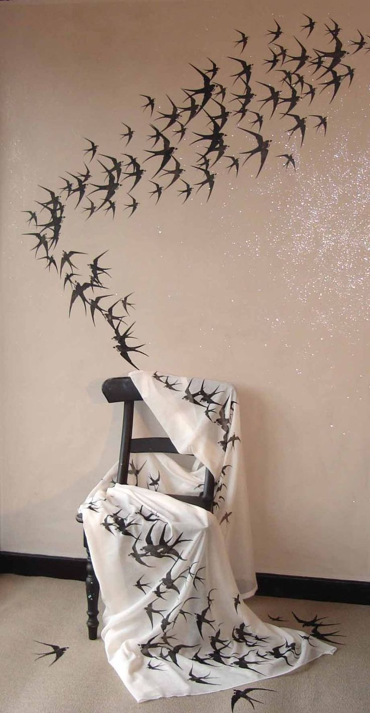 94 best stencil images on pinterest bedroom ideas wall decals migrating swallows design inspiration from planet stencil library amipublicfo Images
