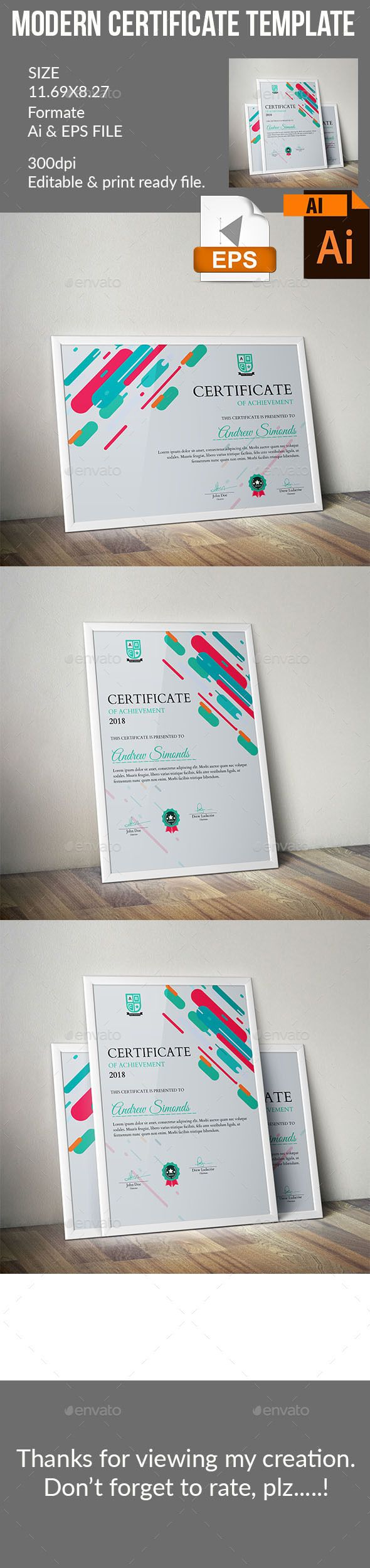 1454 best modern certificate design images on pinterest certificate certificate designcertificate templatesaward certificatesadobe yelopaper Choice Image