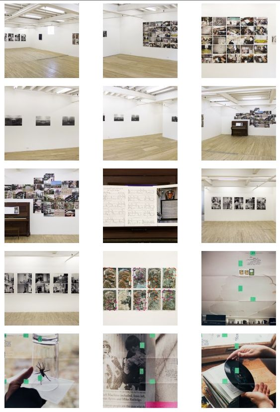 Moyra Davey's exhibition in the Camden Arts Centre consisted of series of photographs taken by the artist. The photographs were arranged in the gallery in different forms and order. Some were in straight line, others in were framed and grouped whiles others were a bit scattered.