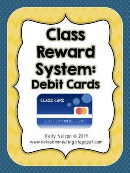 Classroom Reward System - Debit Cards for Kids Freebie!