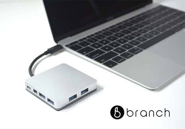 The Branch Aluminum USB-C Hub Adds Six Ports to Your New MacBook