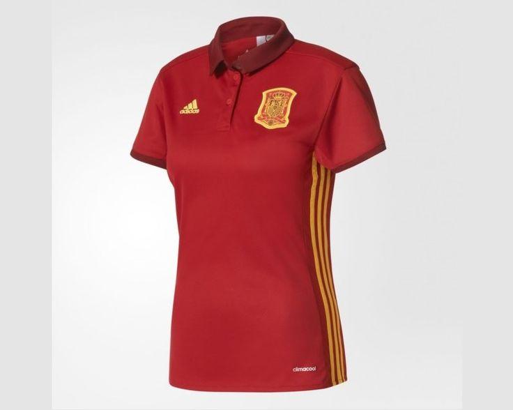 Camisas da seleção feminina da Espanha 2017 Adidas Eurocopa