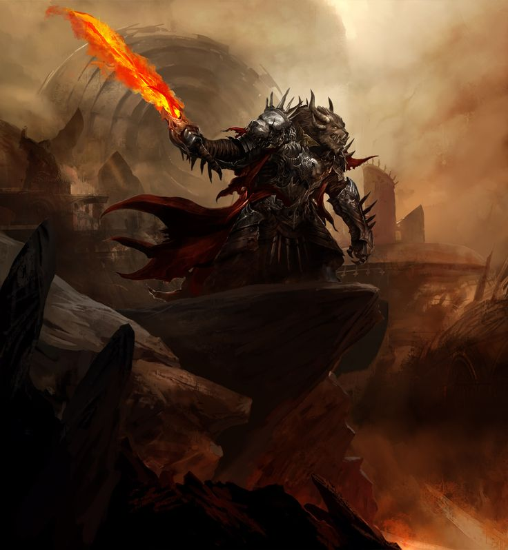 Another amazing piece of art of Rytlock Brimstone from GW2. Also an ace character in game!