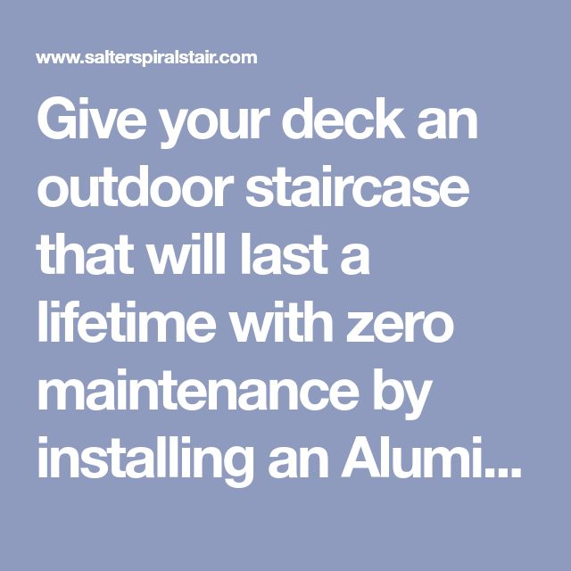 Best Give Your Deck An Outdoor Staircase That Will Last A 400 x 300