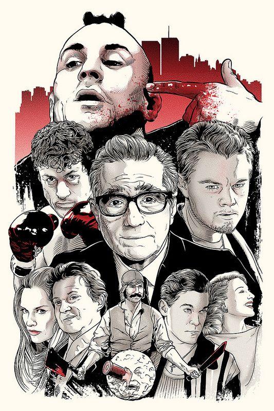 Martin Scorsese se convierte en musa de la pintura y el diseño gráfico
