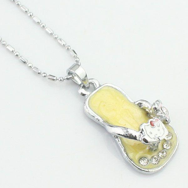 Jaune collier de diamants créative