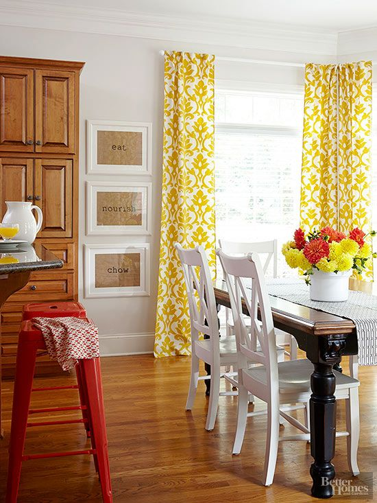 13 Easy Ways To End Your Decorating Rut Bright CurtainsYellow CurtainsRed