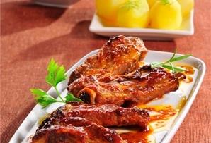 Żeberka miodowo-musztardowe / Honey-mustard pork ribs - soczyste żeberka z  pieczone w woreczku z dodatkiem musztardy i płynnego miodu