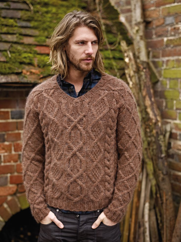 Ilam - With a stunning cable stitch pattern, a v neck detail and saddle…