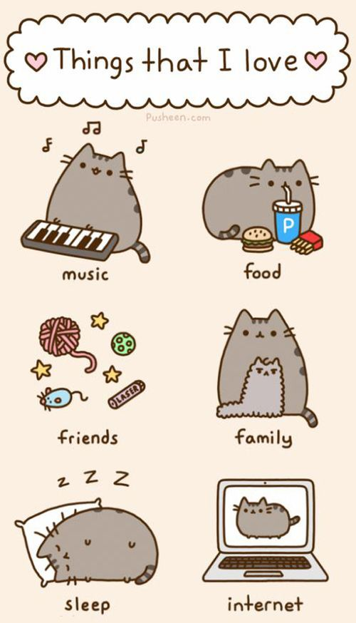 pusheen hd iphone wallpaper - Google Search