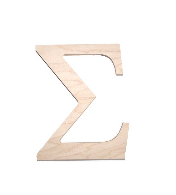 Wooden Greek  Sorority and Fraternity Letter Sigma by mossijossi