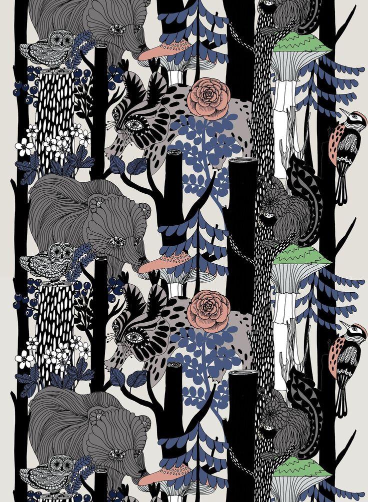 Veljekset -puuvillakangas - Marimekko
