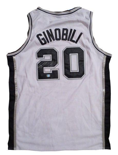 Manu Ginobili Autographed San Antonio Spurs Basketball Jersey AAA COA Italy Manu Ginobili Autographe signed autographed