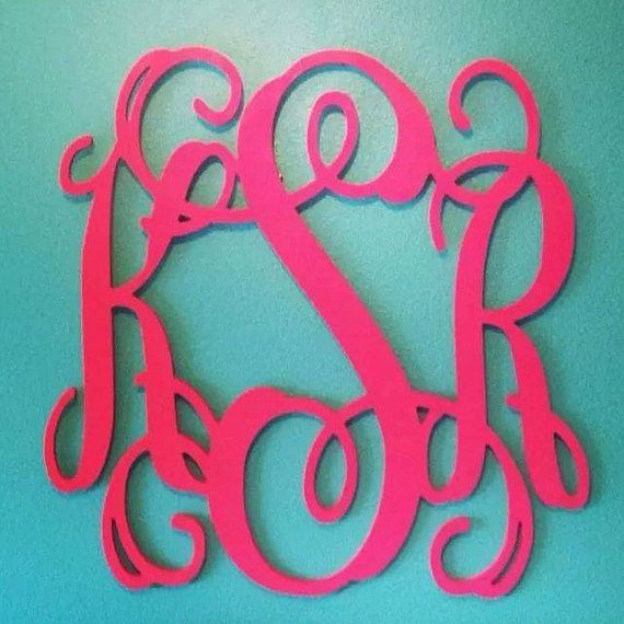 Very Big 32 Quot X32 Quot Inch Wooden Monogram Wall Hanging Painted
