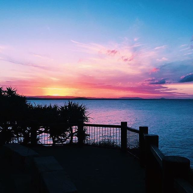 Pausing for a moment to take in this incredible pastel hued skyline from the Noosa National Park
