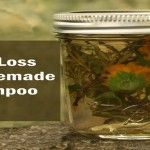Ingredients: 2 glasses distilled water shampoo base Dried herbs (you can also us