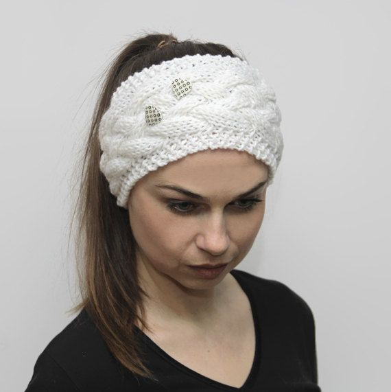 Knit Headband Knitted Headwarmer Hair Band Turband by by Solandia