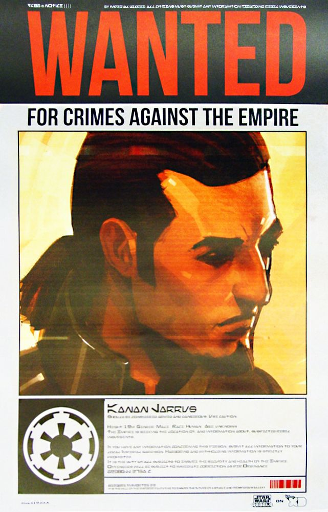 Star Wars Rebels - Kanan Wanted Poster   #starwarsrebels #disneyxd #kurttasche