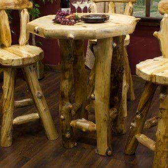 Aspen logs and pub tables on pinterest for Aspen logs for decoration
